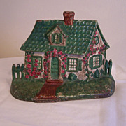 Folk Art Doorstop,  Cottage