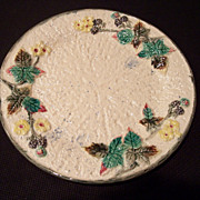 Majolica Plate, Blackberry Pattern by Clifton