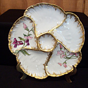 Oyster Plate, Limoge, circa 1890