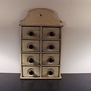 Antique Spice Cabinet, Wall Hanging