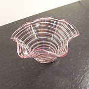 Pair-point Hand Blown Glass Bowl