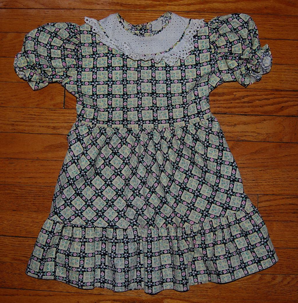 1950's Little Girl's Cotton Dress
