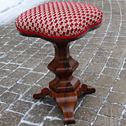 Antique Empire Rosewood Piano Swivel Stool
