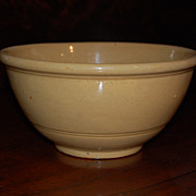 SALE Vintage Yellow Ware Bowl Stoneware