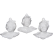 VTG Rynne China ~ Set of 3 Porcelain Girl Cherub Ornaments