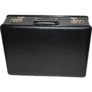 SALE 1950/60s  Stebco ~ Black Faux Leather &quot;Tufide&quot; Briefcase