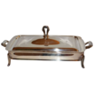 VTG Art Deco Style 2-Pc Silverplated Serving Dish