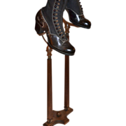 SALE Victorian Carved & Fluted Wood Shoe Display Stand