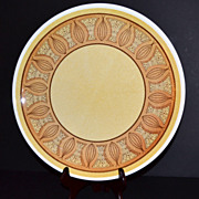 "SALE 1970s Taylor Smith & Taylor ~ 12"" Honey Gold Chop Plate"