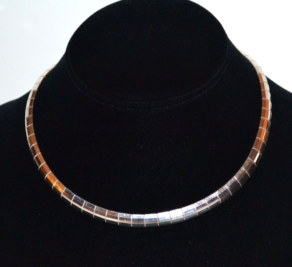 32g italian sterling wide omega necklace from