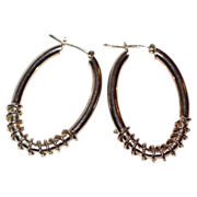 SALE Twisted Spiral Sterling Hoop Earrings