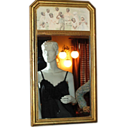 SALE 1925 Black Americana Children Wood Frame Mirror