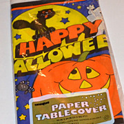 SALE 1988 Halloween Paper Table Cover/Tablecloth