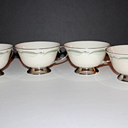 SALE VTG Flintridge China ~ Set of 4 Porcelain Cups