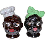 SALE VTG Disembodied Chef & Mammy ~ Black Memorabilia Salt & Pepper Shakers