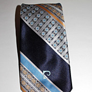 SALE Pierre Cardin ~ Blue Signature Tie ~ Paris New York