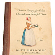 SALE 1928 Famous Recipes for Baker's Chocolate & Breakfast Cocoa Cookbook