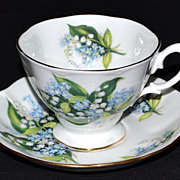 SALE Royal Albert ~ Forget-Me-Not Porcelain Cup & Saucer