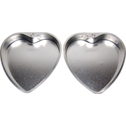SALE 1950s Set of 2 Heart Aluminum Cake Pans ~ W. Germany