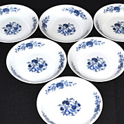 SALE Lennold ~ Set of 6 Blue Meissen Fruit/Dessert/Sauce Bowls