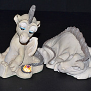 SALE World of Krystonia ~ Owhey & Grazzi Dragon Figurines