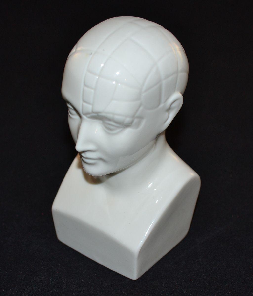 1950s Boehm ~ Antipsychotic Etrafon Porcelain Phrenology Head from blackwidowvintiques on Ruby Lane