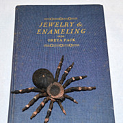 SALE 1953 Jewelry & Enameling Blue Cloth Hardcover Book