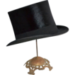 SALE 1900s Maurice L. Rothschild ~ Black Beaver Fur Top Hat w/ Box