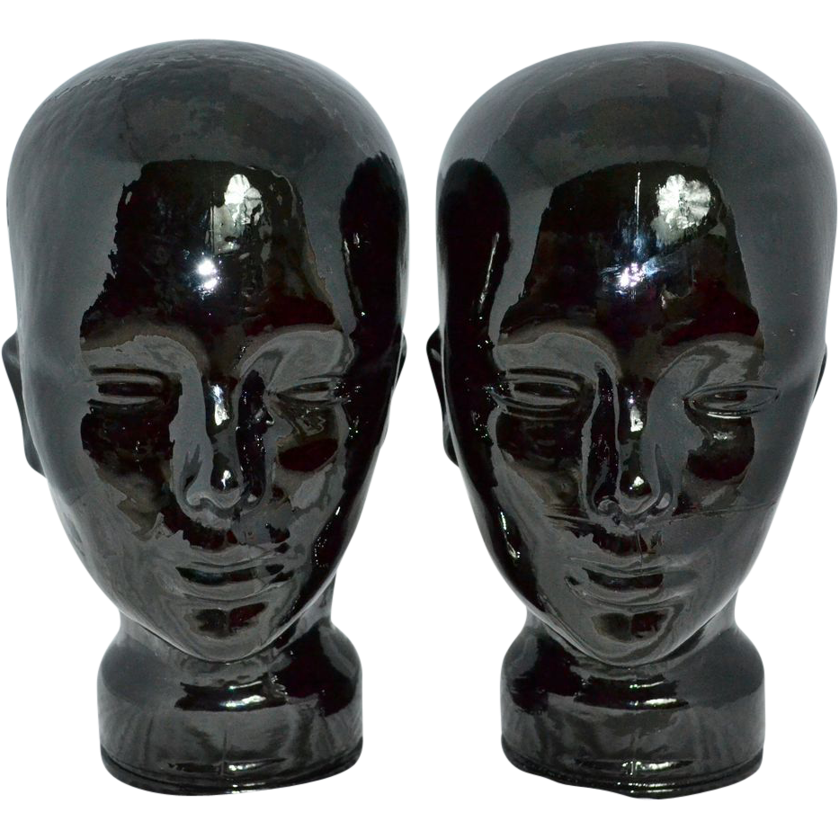 Black Glass Mannequin Head