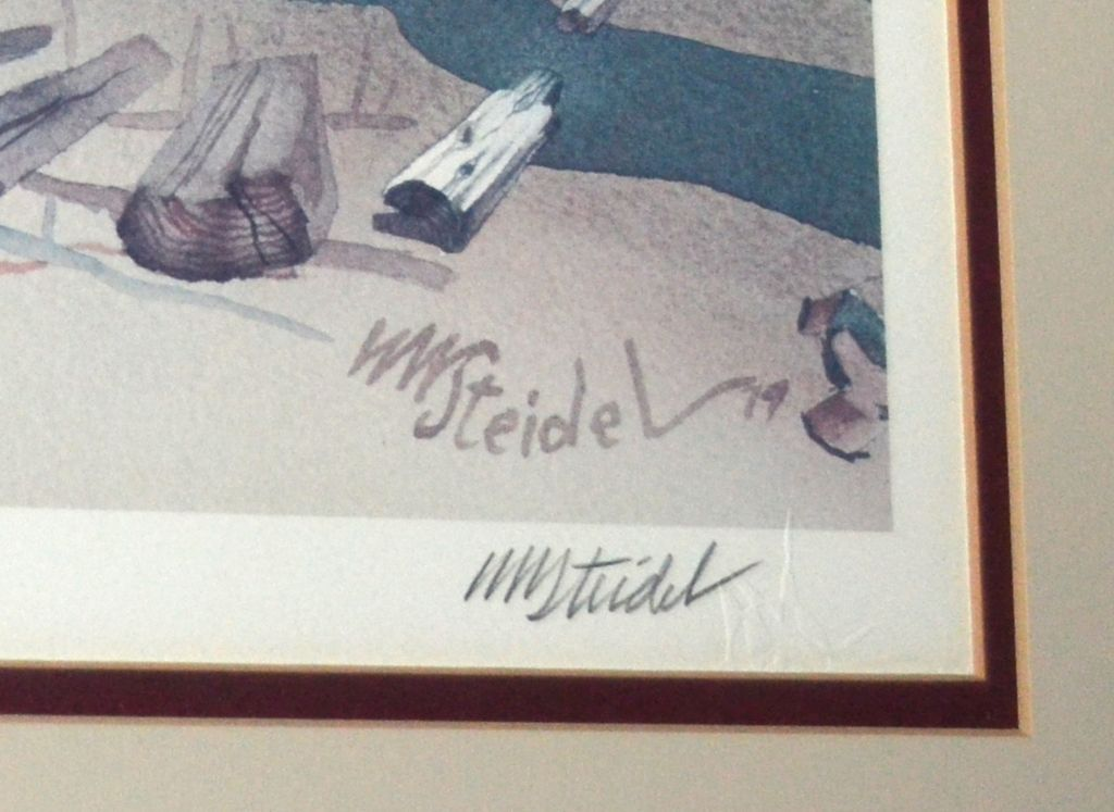 1979 William W Steidel Haystacks On Cannon Beach Limited