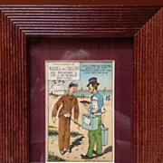 SOLD Chromolithograph Chas.Shields &quot;Nicoll The Tailor&quot;  framed