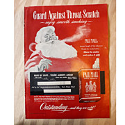 Pall Mall Smoking Santa Magazine Ad