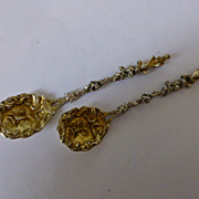 Pair of Silver & Gold fancy Apostle Spoons