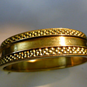 Victorian  ENGLISH 15k  Gold Bangle