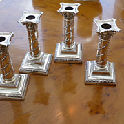 Set of 4 Solid Silver London 1894  Candlesticks