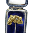 Natural Fine Gold Nugget  with Diamond Stick Pin