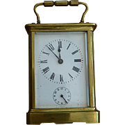Alarmed Brass Carriage Clock