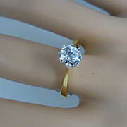 One Carat Victorian Cut Diamond Ring