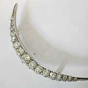 Fine  ENGLISH late Georgian Diamond Crescent Brooch