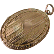 Vintage Oval Gold Locket