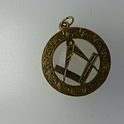 1967 Gold Masonic Fob
