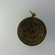 Solid Masonic Gold Pendent / Fob...........