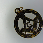 Masonic pieced Gold English Hallmarked Fob/ Pendent