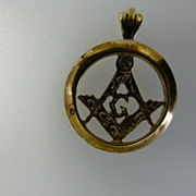 Masonic Gold Pendent/ Fob