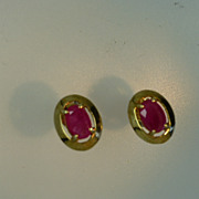 Very neat pair of Natural Ruby Ear Studs
