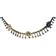 Victorian 15k Natural Pearl Necklace
