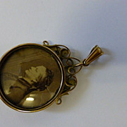 English Victorian Double sided Gold Locket