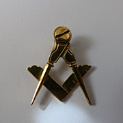Masonic Gold Pendent or Fob