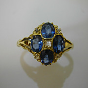 Vintage Sapphire & Diamond Ring