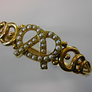 Victorian 15ct. Gold & Pearl Bangle